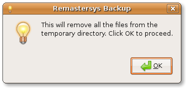 Remastersys clean